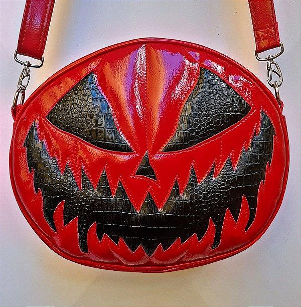 Bolsa Abóbora Bloody Monster Vermelha e Preta