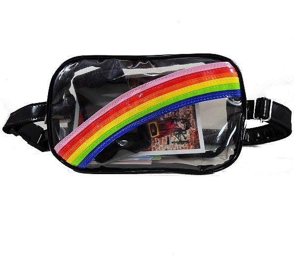 Pochete Arco-íris Transparente