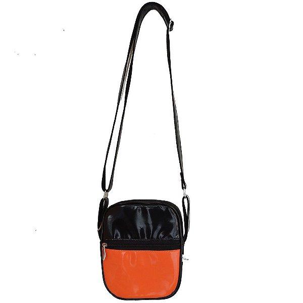 Bolsa Shoulder Bag Colors Preta e Laranja
