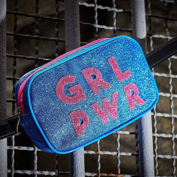 Pochete Nara Prado Girl Power Azul