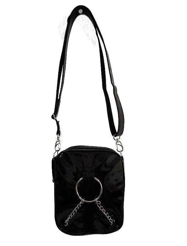 Bolsa Shoulder Bag Verniz Preta