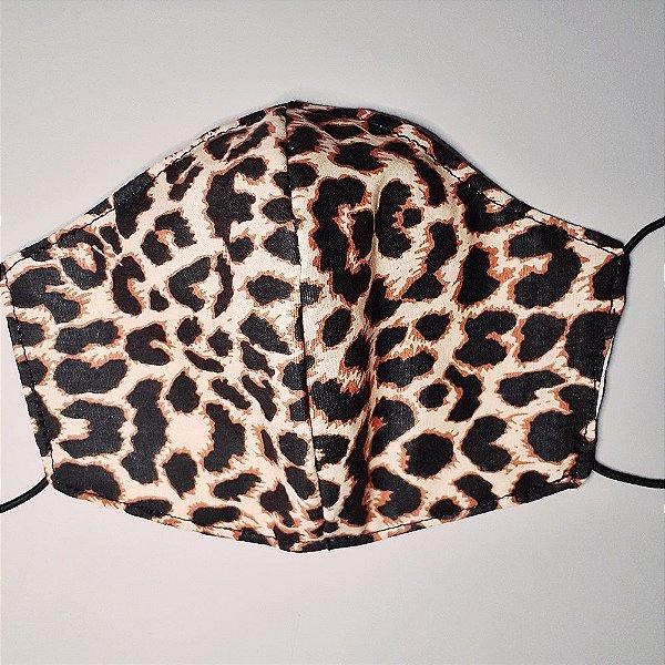 Mascara para prevenção de tecido duplo 100% algodão Leopardo