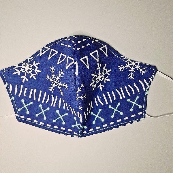 Mascara para prevenção de tecido duplo 100% algodão Azul