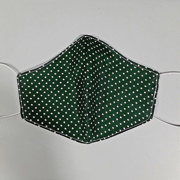 Mascara para prevenção de tecido duplo 100% algodão Verde Poá
