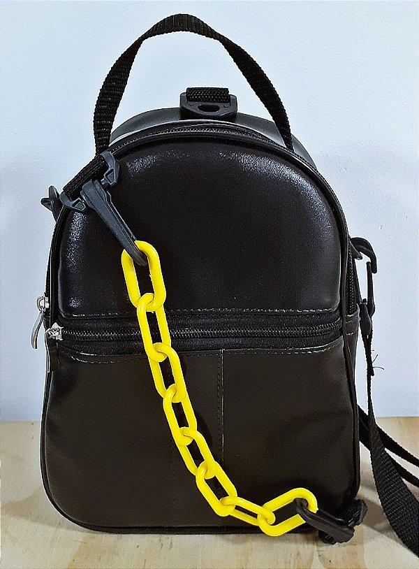 Mini mochila e bolsa 2 em 1 Preta