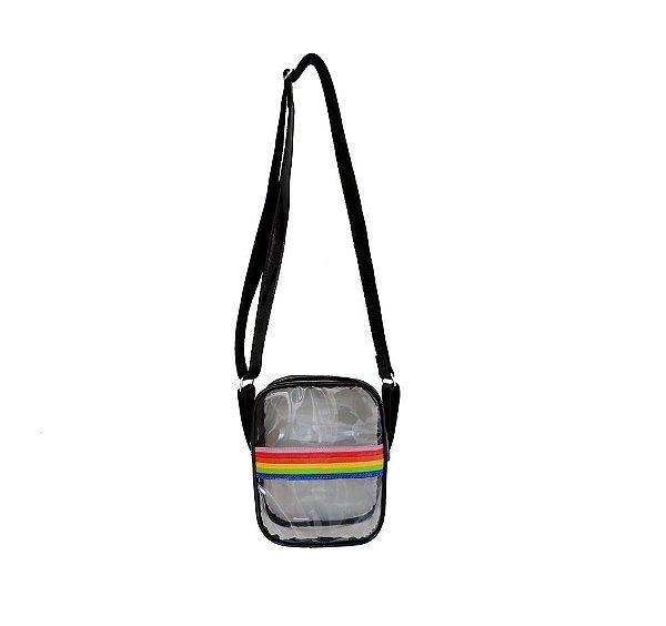 Bolsa Arco-íris transparente