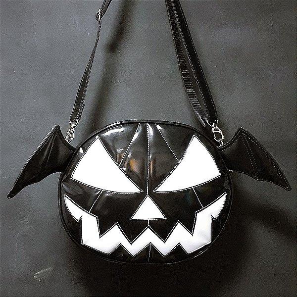 Bolsa Abóbora Halloween Black com Asas