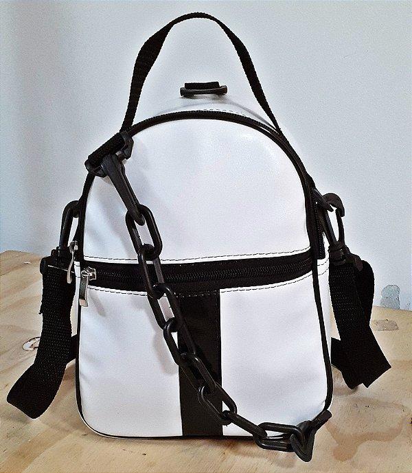 Mini mochila e bolsa 2 em 1 Branca