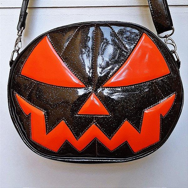 Bolsa Nara Prado Abóbora Halloween Black Glitter