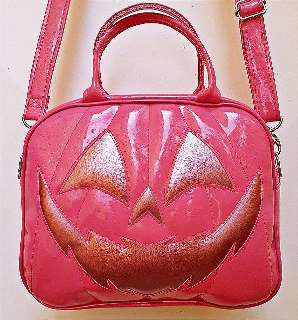 Maleta Nara Prado Abóbora Halloween Rosa