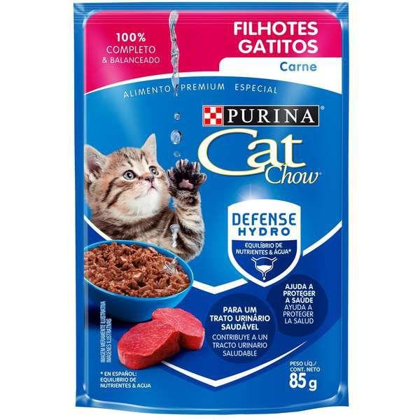 Ração Úmida Nestlé Purina Cat Chow Sachê Filhotes Frango ao Molho