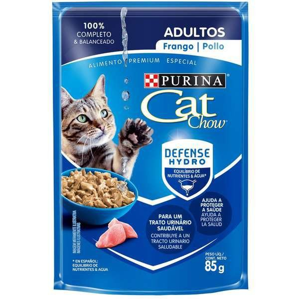 Ração Úmida Nestlé Purina Cat Chow Sachê Adultos Frango ao Molho