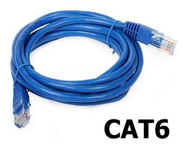 CABO DE INTERNET CAT6 RJ45 ETHERNET LAN GIGA 10/1000 2 METROS
