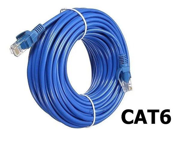 CABO DE INTERNET CAT6 RJ45 ETHERNET LAN GIGA 10/1000 30 METROS