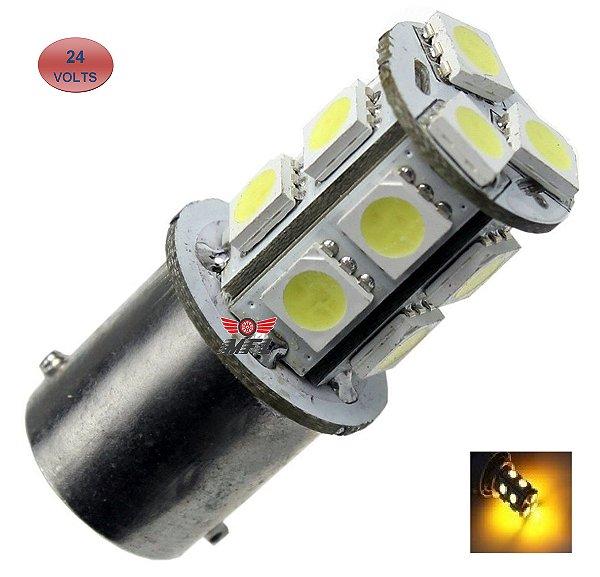 LAMPADA 13 LED BAY15D 2 POLO P21/5W 1157 1034 LARANJA 24V