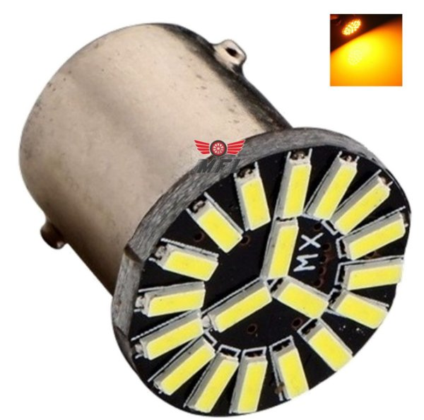 LAMPADA 19 LED CAMBUS BA15S 1 POLO 1156 1141 LARANJA P21W 12V