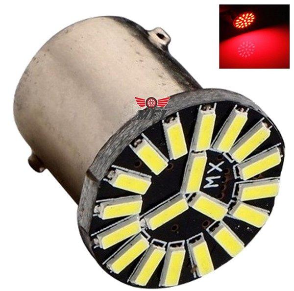 LAMPADA 19 LED CAMBUS BAY15D 2 POLO 1157 1034 VERMELHO P21 12V