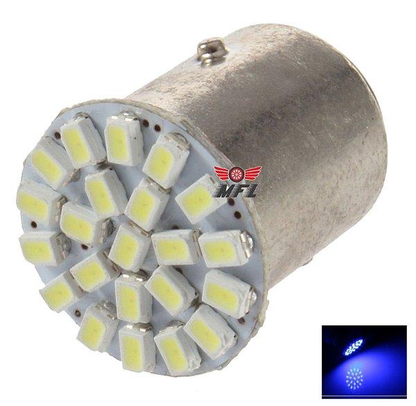 LAMPADA 22 LED BA15S 1 POLO P21W 1156 1141 AZUL 3014 12V