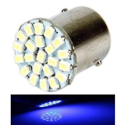Lampada 22 Led Bay15d 2 Polo P21/5w 1157 1034 Azul 3020 12v