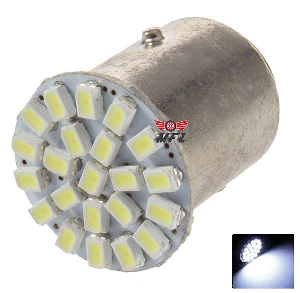 LAMPADA 22 LED BAY15D 2 POLO P21/5W 1157 1034 BRANCO 3014 12V