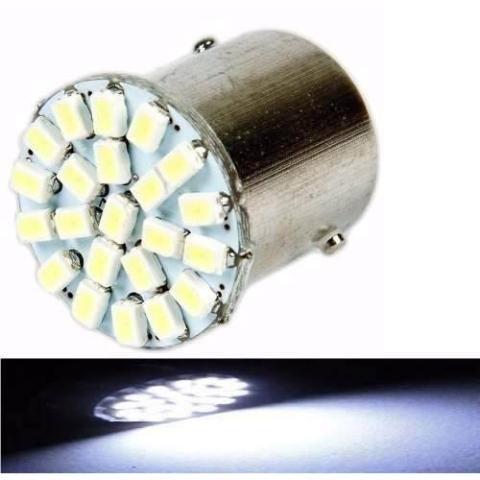 Lampada 22 Led Bay15d 2 Polo P21/5w 1157 1034 Branco 3020 12v