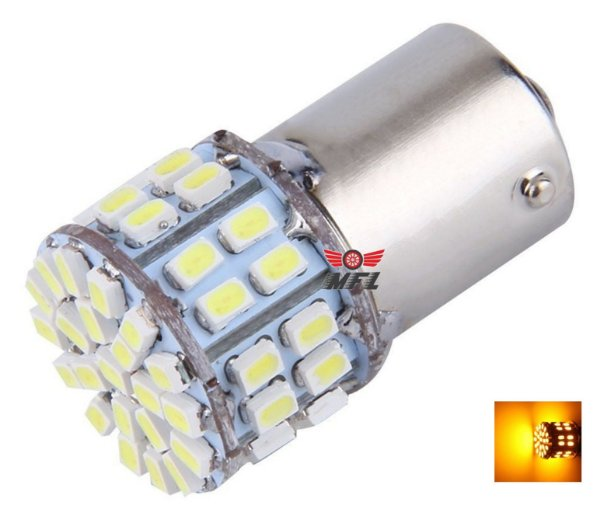 LAMPADA 50 LED BA15S 1 POLO P21W 1156 1141 LARANJA 12V