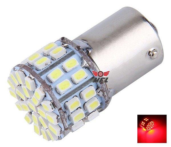 LAMPADA 50 LED BA15S 1 POLO P21W 1156 1141 VERMELHO 12V
