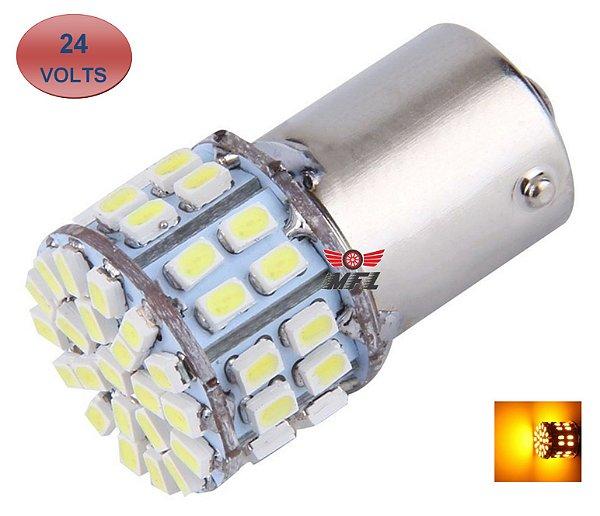 LAMPADA 50 LED BAY15D 2 POLO P21/5W 1157 1034 LARANJA 24V