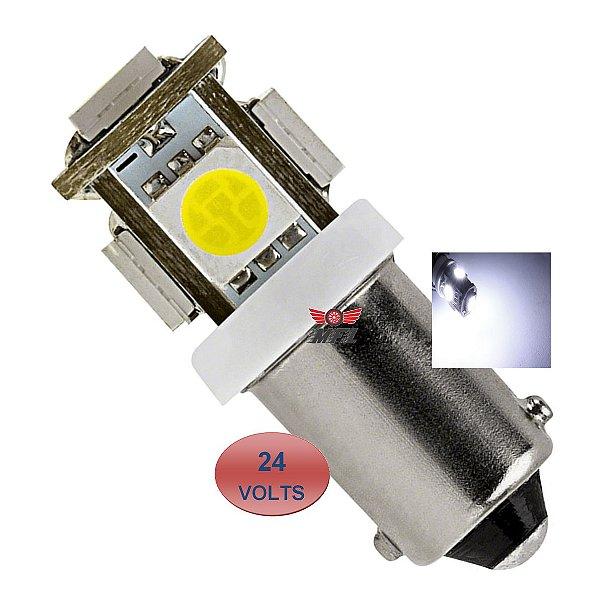 LAMPADA BA9S 5 LED T4W 69 BRANCO 24V