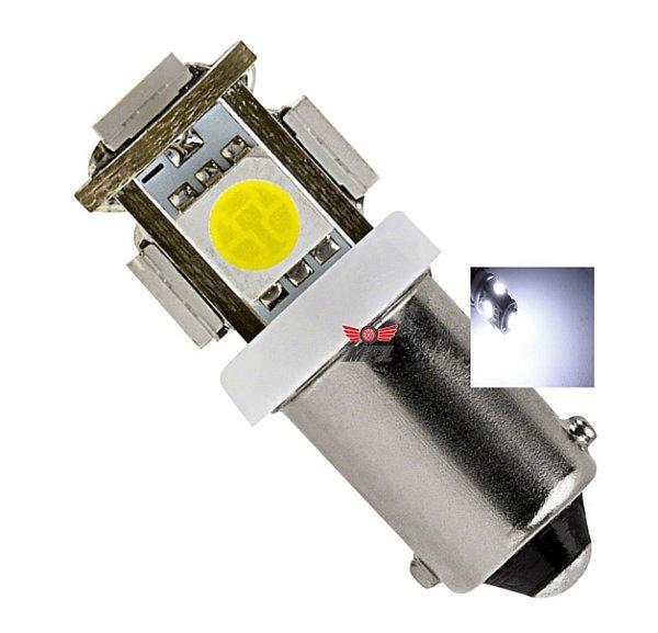 LAMPADA BA9S 5 LED T4W 69 BRANCO 12V