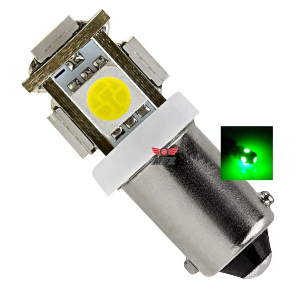 LAMPADA BA9S 5 LED T4W 69 VERDE 12V