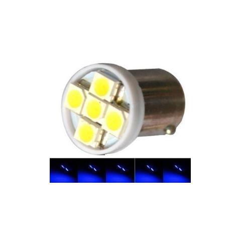 Lampada Ba9s 5 Led T4w 69 Azul 12v