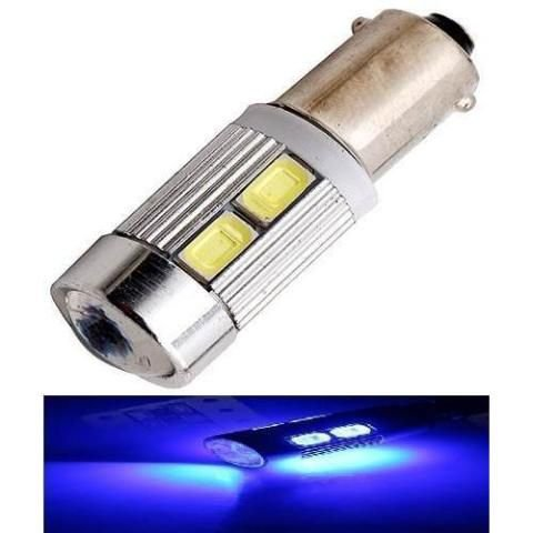 Lampada Ba9s Cambus Cree 10 Led T4w 69 Azul Escuro 12v