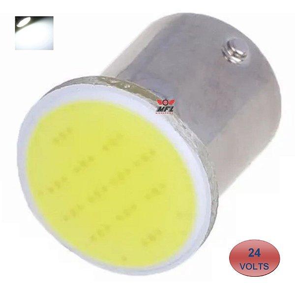 LAMPADA COB LED BA15S 1 POLO P21W 1156 1141 BRANCO 24V