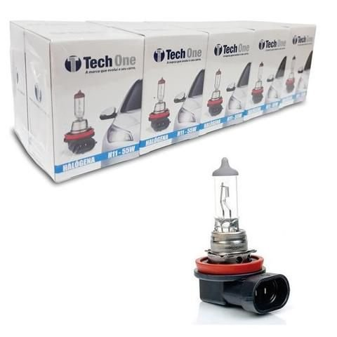 Lampada Halogena H11 4300k 12v 55w Techone (unidade) 12v