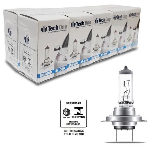 LAMPADA HALOGENA 12V TECHONE CAIXINHA 4300K H7 55W