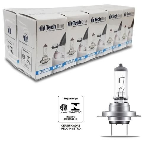 Lampada Halogena H7 4300k 12v 55w Techone (unidade) 12v