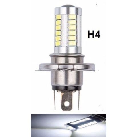 LAMPADA LED H4 33 LED CREE BRANCO 12V