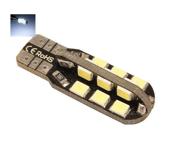 LAMPADA T10 CAMBUS 24 LED CANCELLER CADU W5W BRANCO 12V