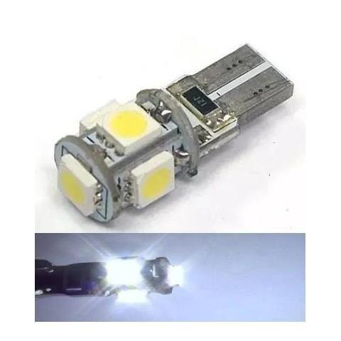 Lampada T10 Cambus 5 Led Canceller W5w Branco 12v