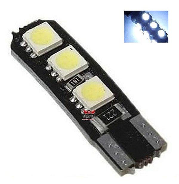 LAMPADA T10 CAMBUS 6 LED CANCELLER W5W BRANCO 12V