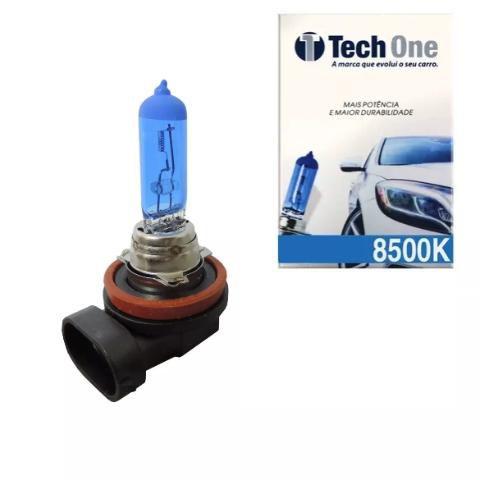 Lampada Super Branca H11 8500k Xenon 12v 55w Techone (unidade)