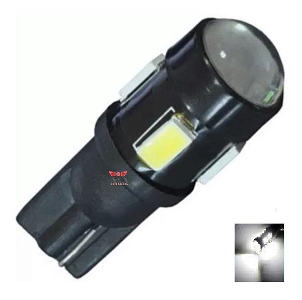 LAMPADA T10 CREE 5 LED W5W BRANCO 12V