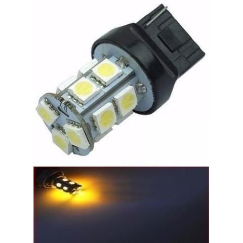 Lampada T20 13 Led 1 Polo 7440 W21w Laranja 12v