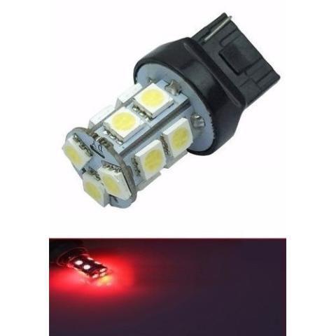 Lampada T20 13 Led 1 Polo 7440 5050 W21w Vermelho 12v