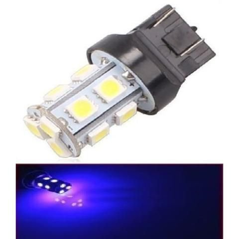 Lampada T20 13 Led 2 Polo 7443 5050 W21w Azul 12v