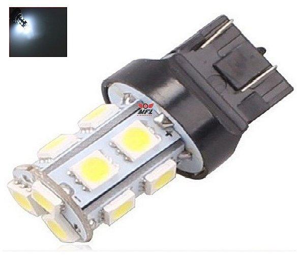 LAMPADA T20 13 LED 1 2 POLO 7440 7443 5050 W21W BRANCO 12V