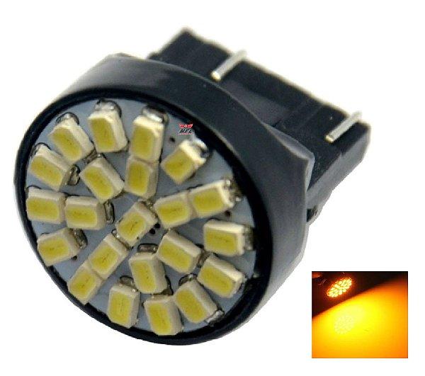 LAMPADA T20 22 LED 1 2 POLO 7440 7443 W21W LARANJA 12V