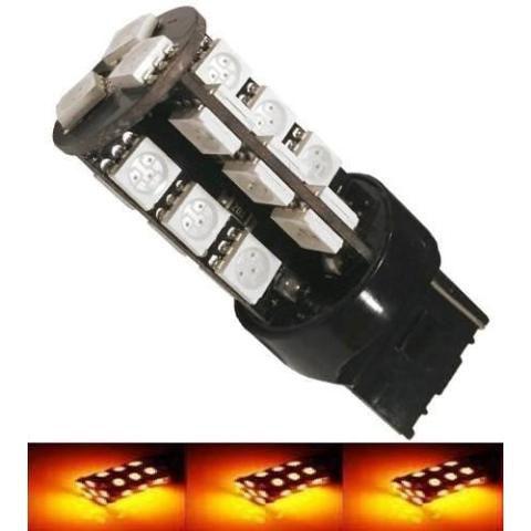 Lampada T20 Cambus 27 Led 2 Polo 7443 W21w Laranja 12v