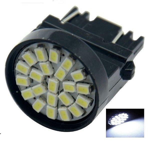 LAMPADA T25 22 LED 1 E 2 POLO 3156 3157 W27W BRANCO 12V